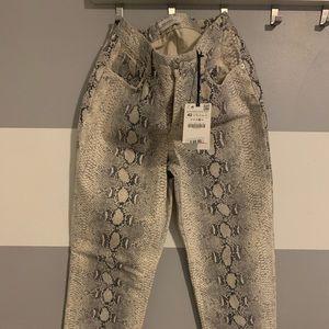 Zara Snakeprint Jeans